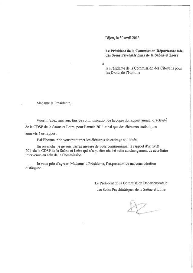 71 rapport activité cdsp 2011