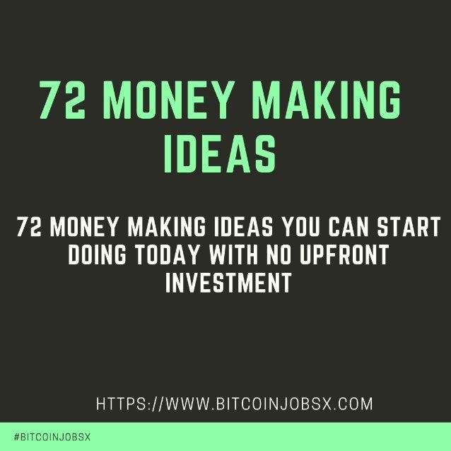 72 Money Making Ideas