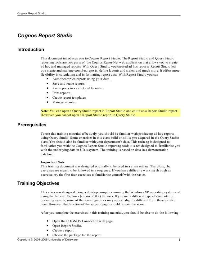 7200342 cognos report studio rh slideshare net User at Computer Web Query