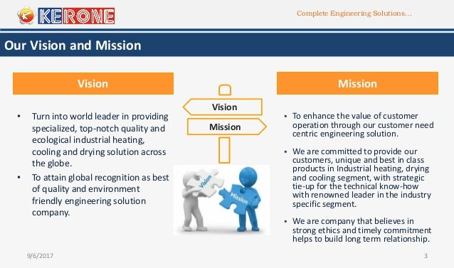 Complete Engineering Solutions… 9/6/2017 3 Our Vision and Mission • Turn into world leader in providing specialized, top-n...