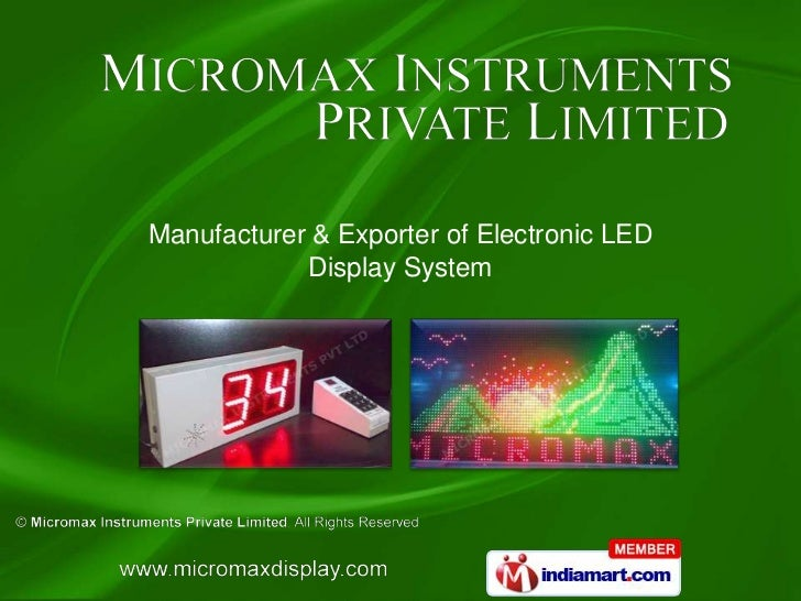 Manufacturer & Exporter of Electronic LED            Display System