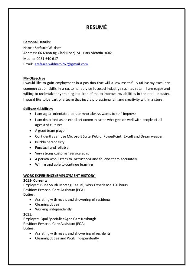 stefanie wildner resume nov 2015