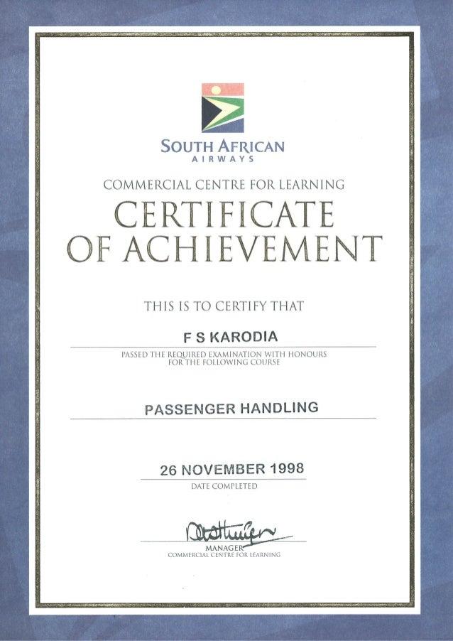 SAA-Passenger Handling