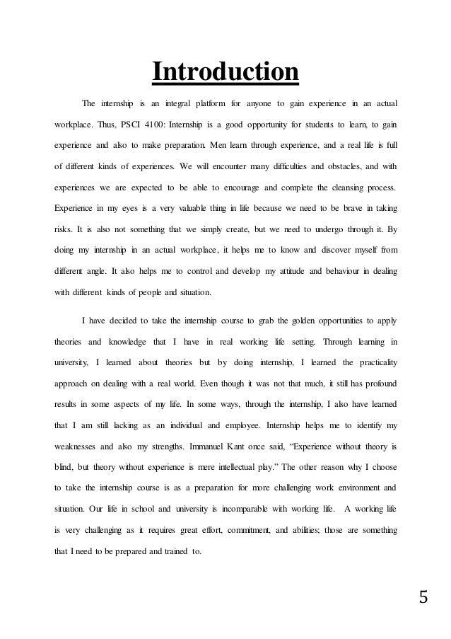 Internship Report Natasha Nazira