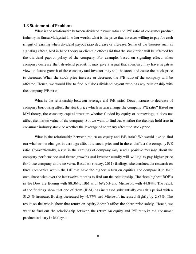 Research paper on p/e ratio abortion essay thesis