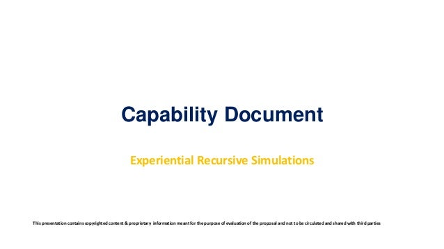 Capability Document Experiential Recursive Simulation