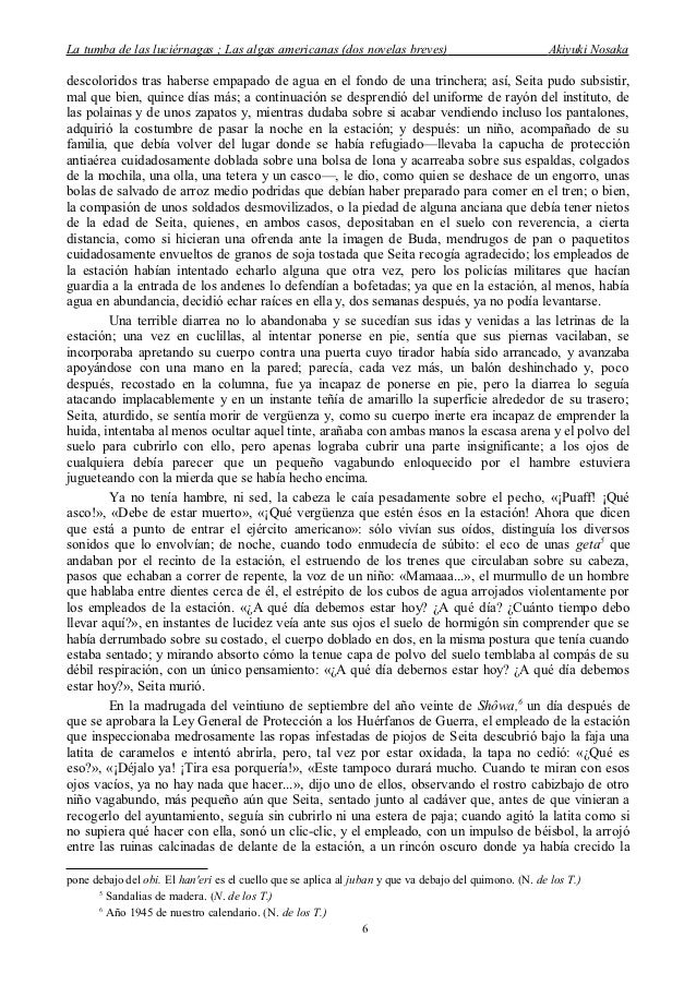 la tumba de las luciernagas pdf