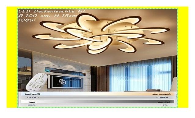 LED Design Deckenlampe Deckenstrahler Lampe Deckenleuchte DIMMBAR Fernbedienung