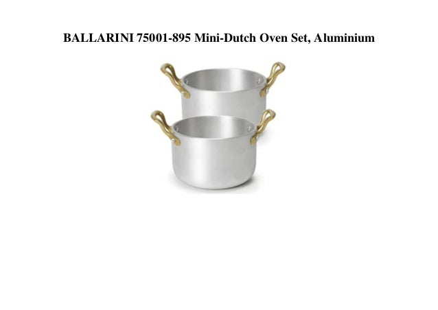 BALLARINI 75001-895 Mini-Dutch Oven Set, Aluminium