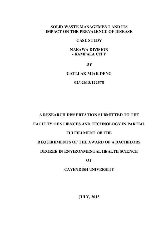 environmental health dissertations