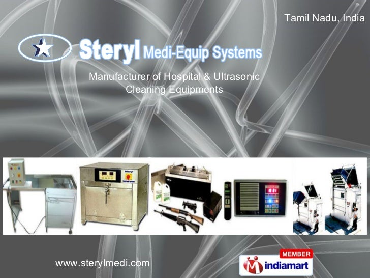 Tamil Nadu, India Manufacturer of Hospital & Ultrasonic Cleaning Equipments