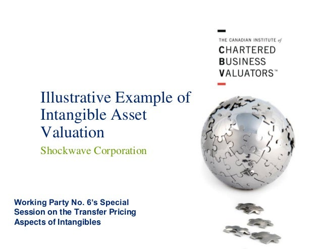 Illustrative Example of Intangible Asset Valuation Shockwave Corporation  Working Party No. 6's Special Session on the Tra...