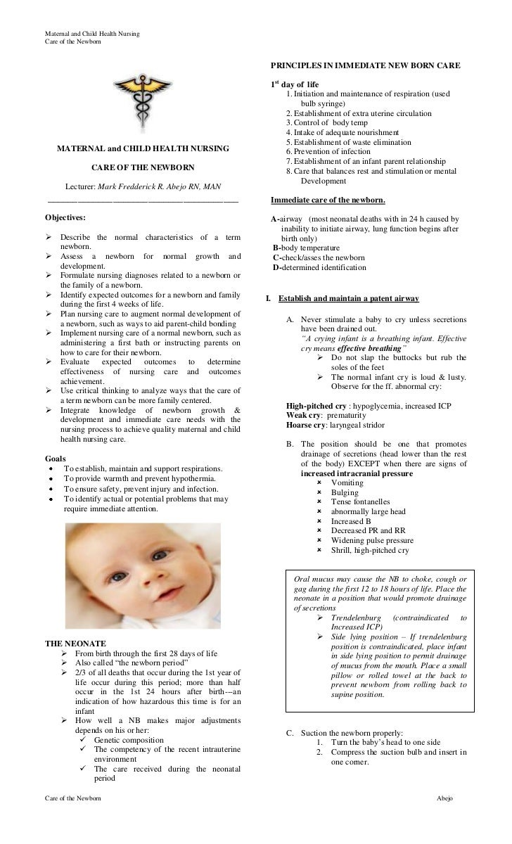 Caring for the navel of a newborn: note to parents