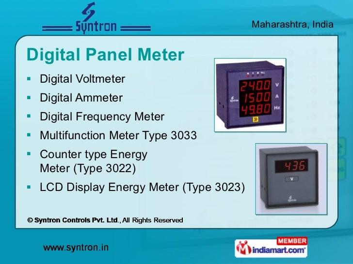 Digital Panel Meter <ul><li>Digital Voltmeter </li></ul><ul><li>Digital Ammeter  </li></ul><ul><li>Digital Frequency Meter...