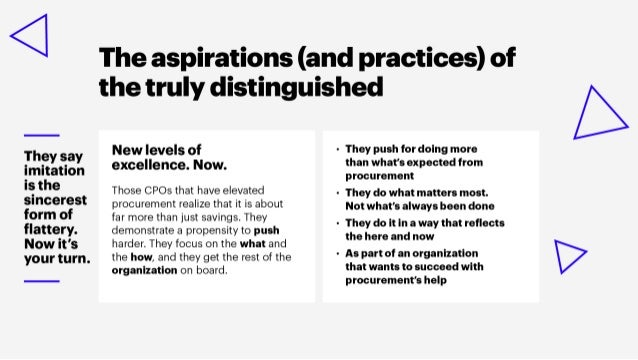 The Six Distinctions of Procurement