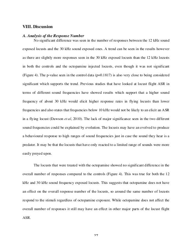 27 VIII. Discussion A. Analysis of the Response Number No significant difference was seen in the number of responses betw...