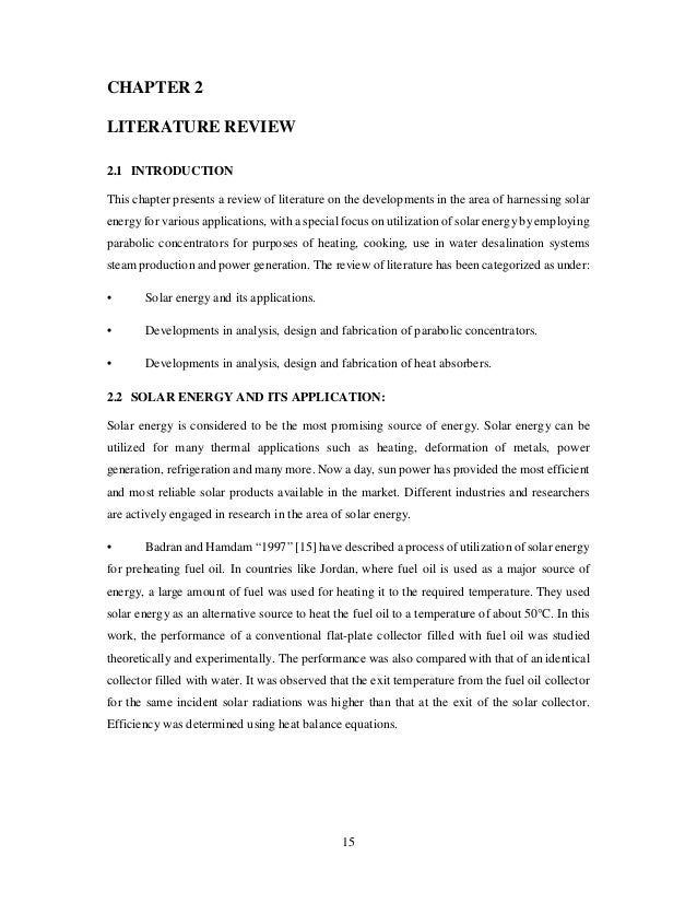 literature review on parabolic solar cooker