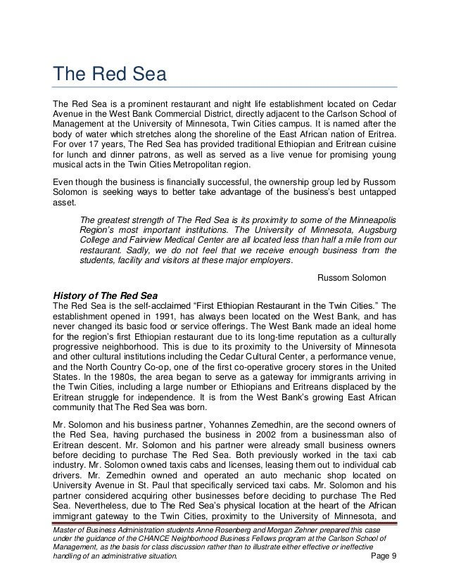 The Red Sea Rosenberg and Zehner 12 Consumer Segments and Diversification The Red Sea serves four distinct segments that a...