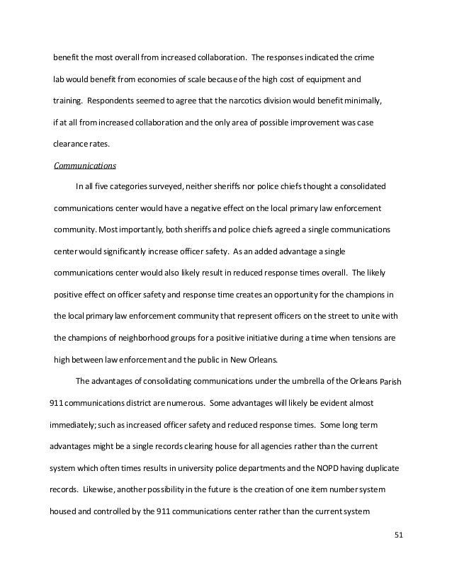 thesis on law enforcement