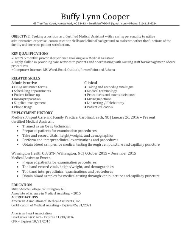 Bcma Resume