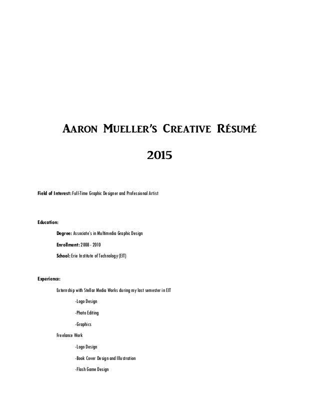 graphic arts resumes