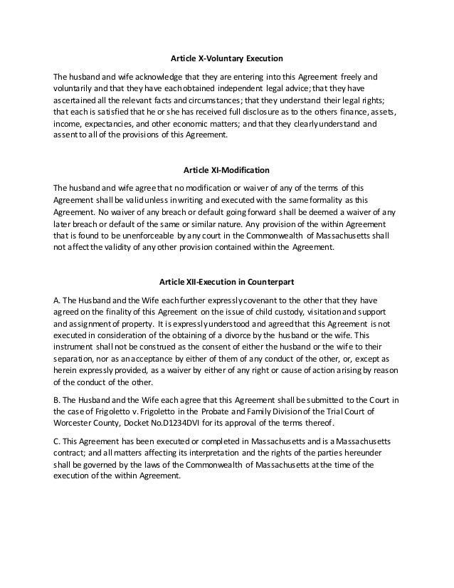 Separation Agreement Generic