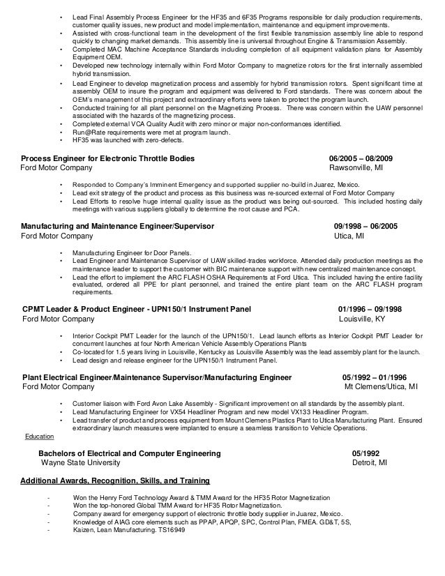 Plastic Engineering Cover Letters
