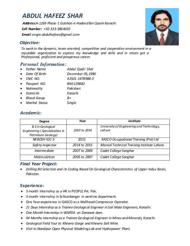 abdul-hafeez-shar-cv-nebosh-karachi-1-638 Resume Format Ground Staff Airport on sample canadian, cover letter, for teacher, sample fresher, computer science, for designers, 12th pass, for fresh graduates, sample chronological,