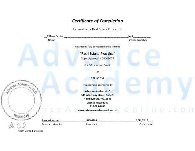 real estate certification 2