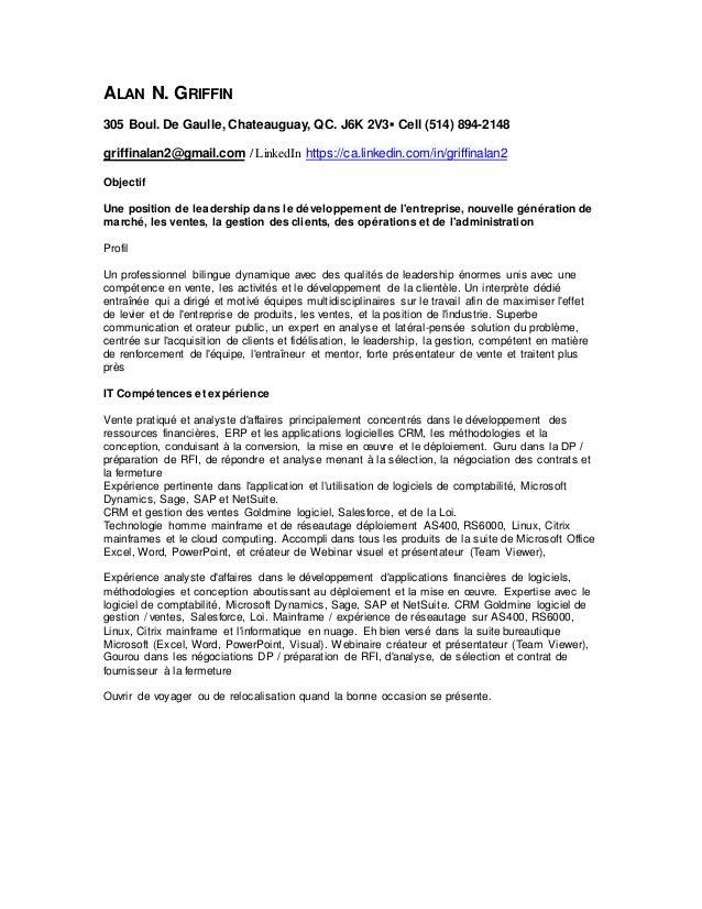 ALAN N. GRIFFIN 305 Boul. De Gaulle, Chateauguay, QC. J6K 2V3▪ Cell (514) 894-2148 griffinalan2@gmail.com / LinkedIn https...