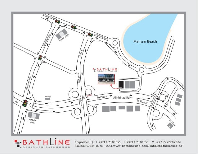 Bathline Dubai location map - (1) on