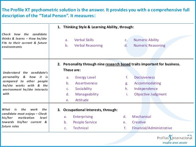 the results of a personal assessment about the conflict dynamics profile Communication styles: a self-assessment exercise (based on the work of p case teaching for the cross-cultural mind washington, dc, sietar, 1981) focus on the result first state the conclusion at the outset state your best recommendation.