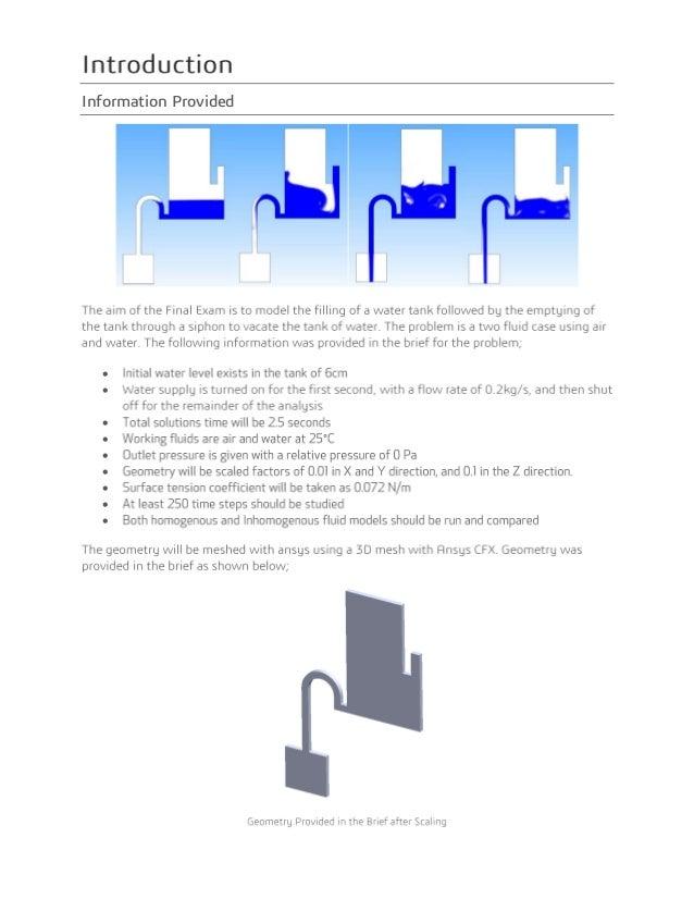 Final Exam Ansys CFX - Stephen White Slide 3