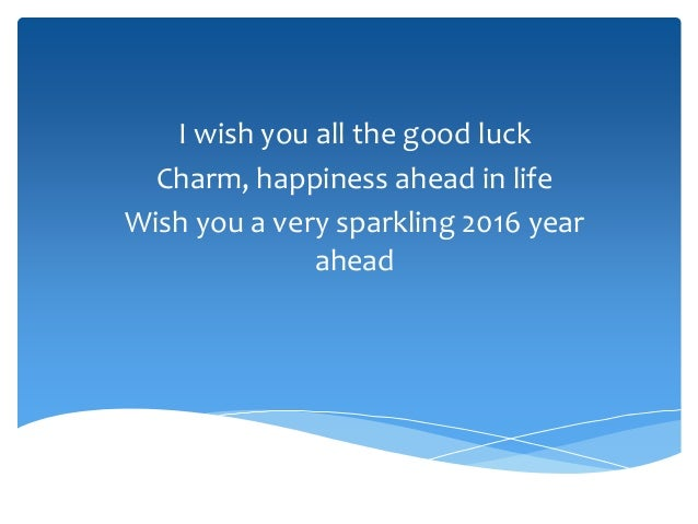 wish you a very sparkling 2016 year ahead 8