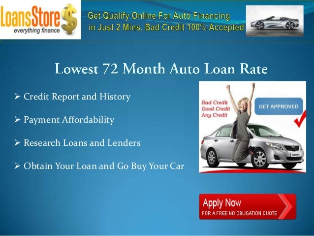 72 Month Used Auto Loan Rates