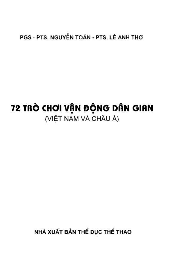 72 trò chơi vận động dân gian tập 1 (nxb thể dục thể thao 2006)   nguyễn toán, 171 trang