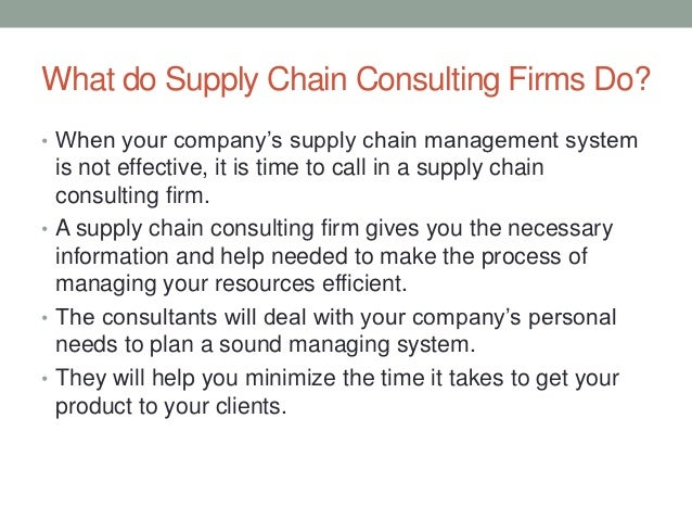 supply chain consulting business plan