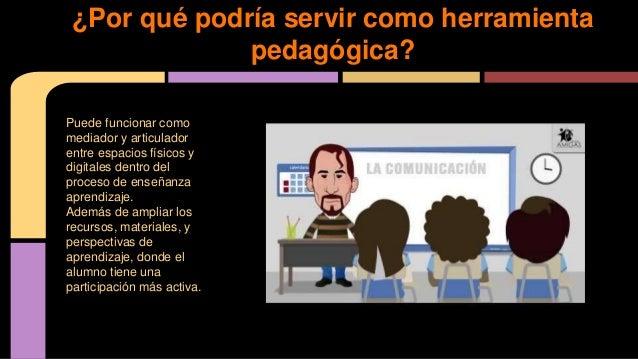 Puede funcionar como mediador y articulador entre espacios físicos y digitales dentro del proceso de enseñanza aprendizaje...