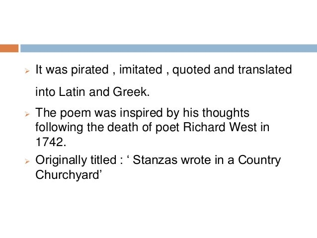 elegy written in a country churchyard analysis by stanza