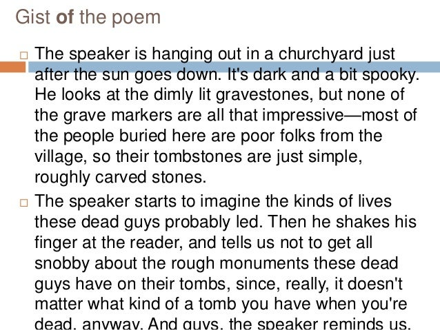 elegy written in a country churchyard essay questions