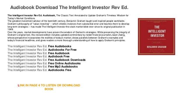 the intelligent investor by benjamin graham audiobook free download