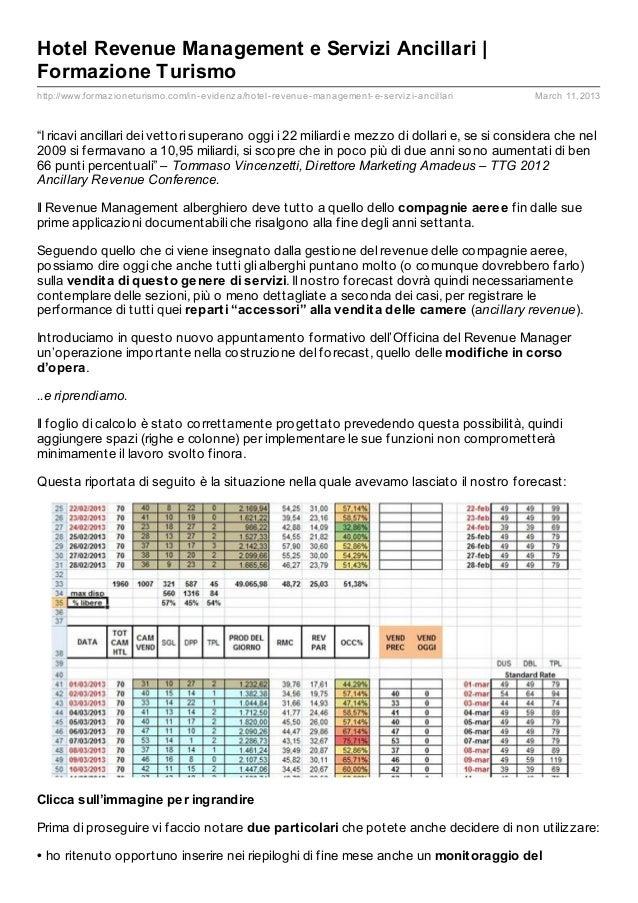 Hotel Revenue Management e Servizi Ancillari  Formazione Turismohttp://www.formaz ioneturismo.com/in- evidenz a/hotel- rev...