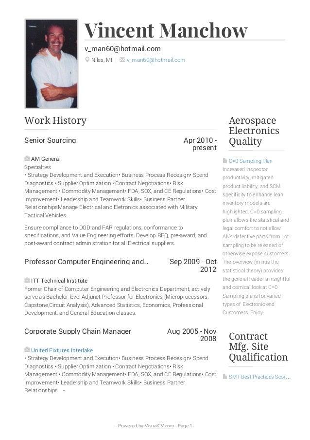 Vincent Manchow VisualCV Resume
