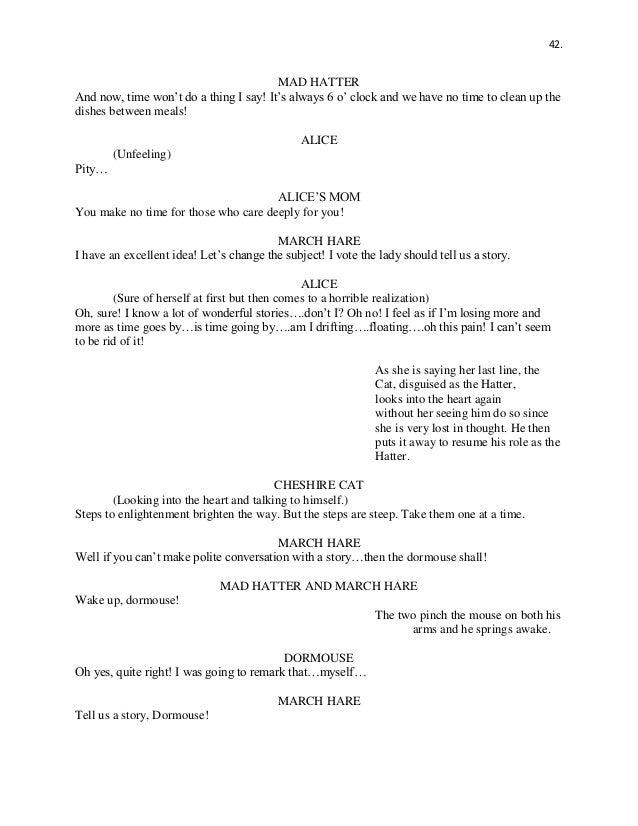 Alice In Wonderland Script
