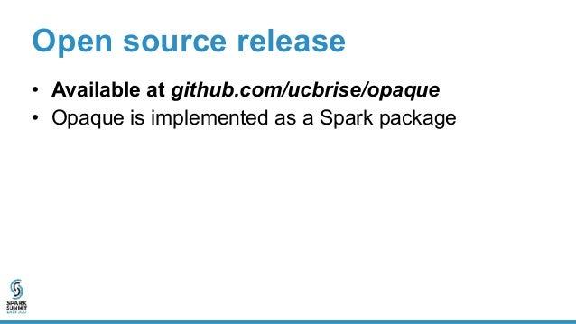 Open source release