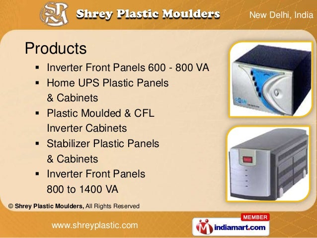 New Delhi, India     Products          Inverter Front Panels 600 - 800 VA          Home UPS Plastic Panels           & C...