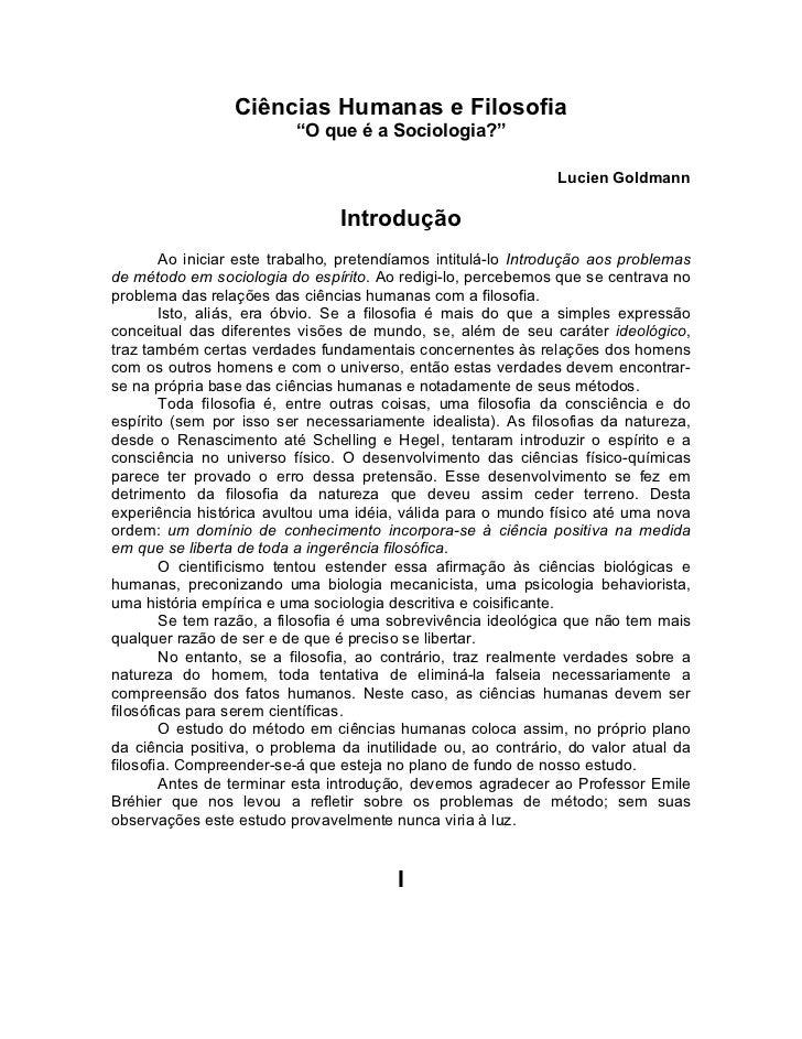 """Ciências Humanas e Filosofia                          """"O que é a Sociologia?""""                                             ..."""