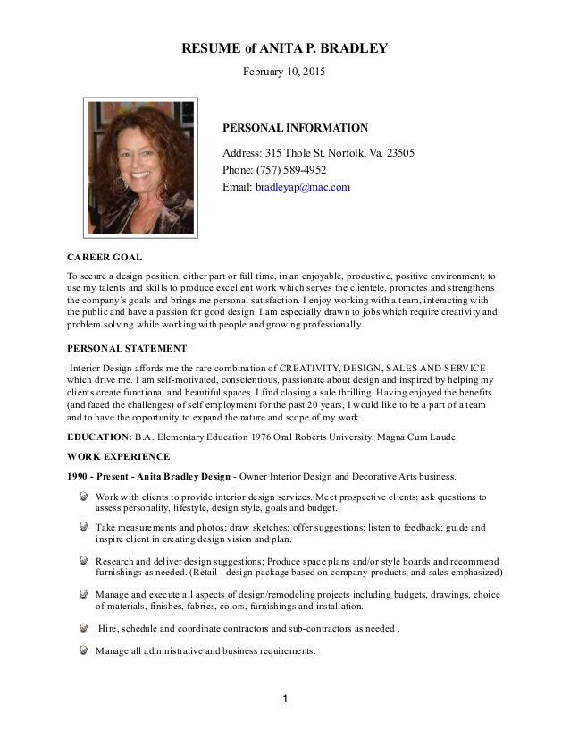 Resume Interior DesignArt