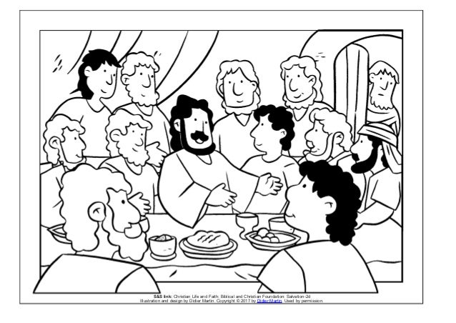 Coloring Page Meals With Jesus The Last Supper SS Link Christian Life And Faith Biblical Foundation Salvation 2d