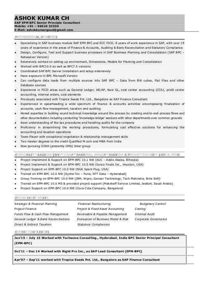 akg sap bpc consultant sap bpc consultant resume free